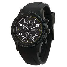 Jorg Gray Men's JG2000-13 Sport Chronograph Black IP Steel Rubber Strap Watch