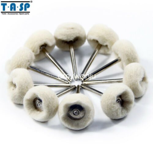 "10PC For Dremel Wool Polishing Buffing Jewelry Metals 1//8/"" Shank Rotary Mandrel"