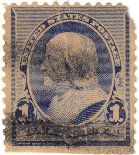 (USA15) 1894 1c blue Franklin ow267