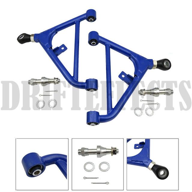 BLUE 240SX S13 180SX ADJUSTABLE REAR LOWER CONTROL ARM SUSPENSION KIT SET RACING