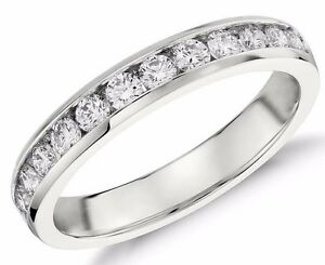 Diamond-Wedding-Ring-band-0-60-Carat-Round-Cut-14k-White-Gold-in-Channel-Setting