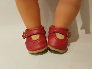Baby Born Doll - Red Sandals Shoes - By Zapf Creations #290