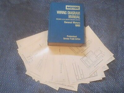1992 Chevrolet Lumina Apv Silhouette Trans Sport Wiring Diagrams Schematics Set Ebay