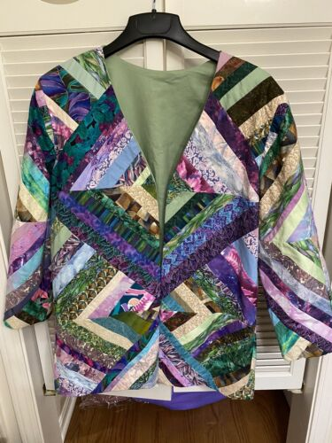 Homemade Hand Crafted Patchwork Quilt Coat Jacket