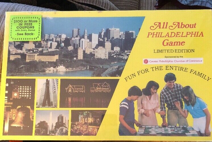 All About Philadelphia Game Promotional (Sealed Rare 1982) Commerce Sponsorosso LE
