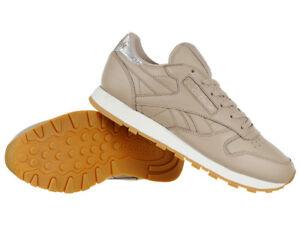 e2f3148deee74 Reebok Classic Leather Met Diamond Womens Sports Sneakers Shoes ...