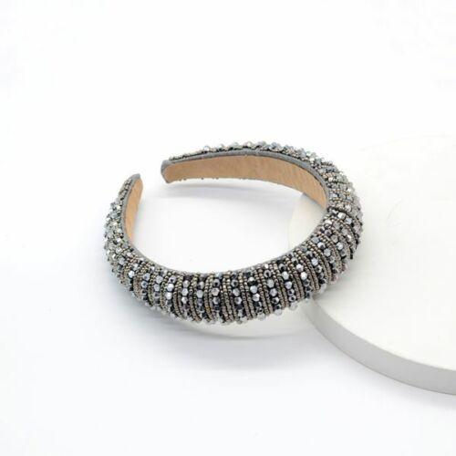 Headband//Diadema Rhinestone Woven Pearl Crystal Headband FASTFREESHIP
