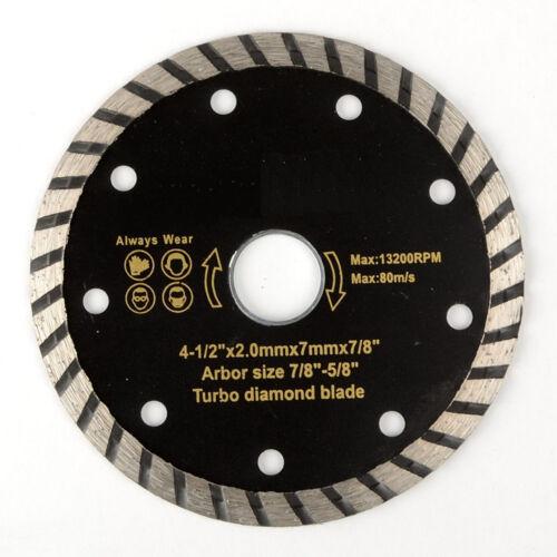 "4-1//2/"" Turbo Diamond Blade Wet /& Dry General Tile Concrete Marble Masonr"