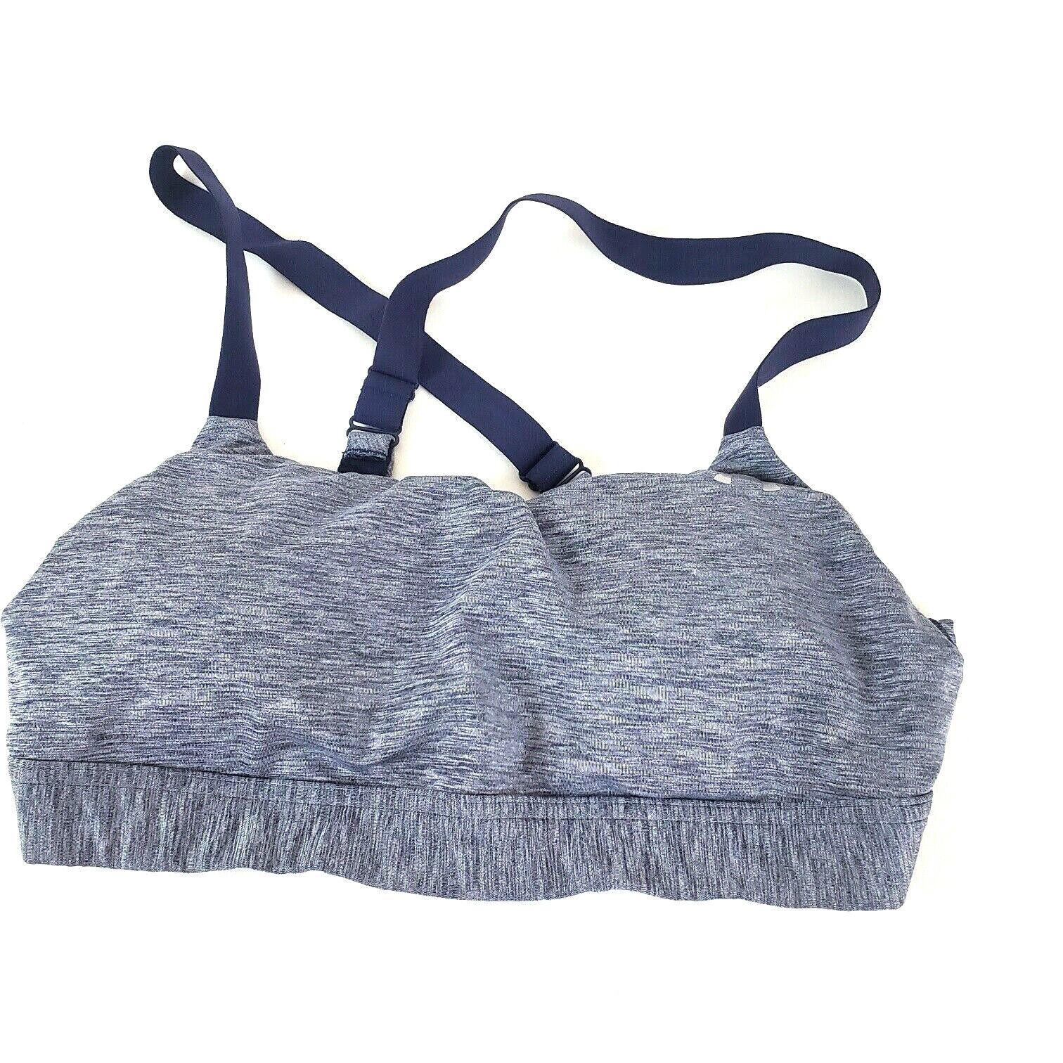Women's Under Armour Heat Blue Sports Bra with Adjustable Strap Pads Size Medium