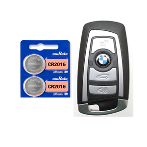 2-Pack CR2016 Key Fob Remote Battery