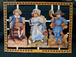 Cromos-Ingleses-Antiguos-Troquelados-Personajes-Romanticos-siglo-XX-SCRAPS