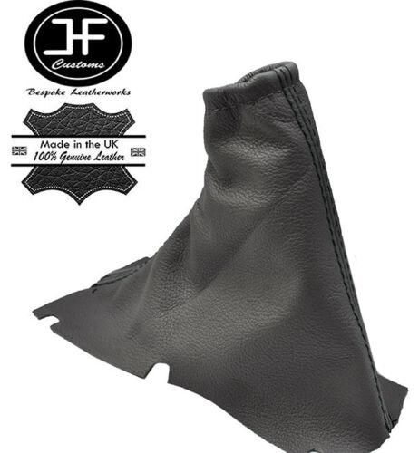 Black stitch fits volvo V70 2000-2004 gris foncé frein à main gaiter couverture en cuir