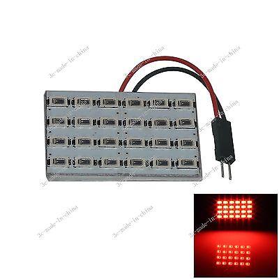 1pcs Red 24 5630 SMD LED Festoon Dome/Door/Box Light Panel Interior Bulb J206