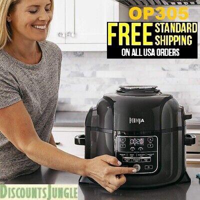 NEW Ninja Foodi OP305 TenderCrisp 6.5-qt Multi-Cooker Air Fryer All-in-One