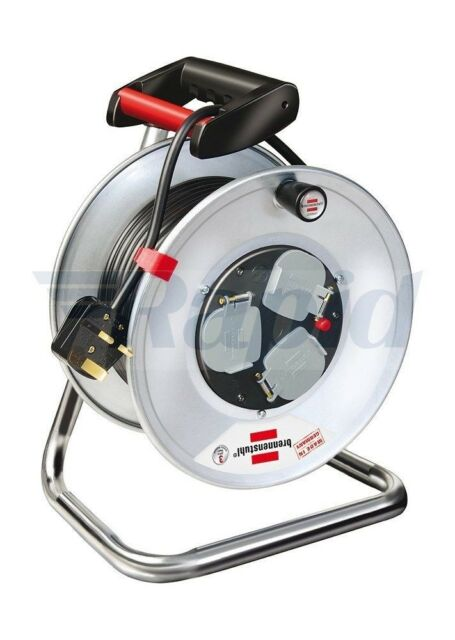 Brennenstuhl 1198063 Cable Reel Garant S 3 50m H05VV-F 3G1.5 with Safety Cut Out