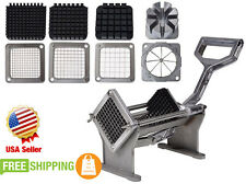 Potato French Fry Fruit Vegetable Commercial Cutter Slicer Cutting W/ 4 Blades@K