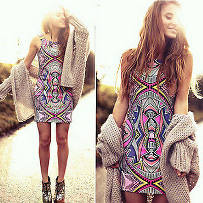 New Sexy Womens Summer Casual Sleeveless Party Evening Cocktail Short Mini Dress