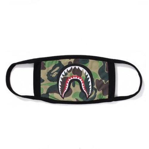 Bathing Ape Bape Shark Black Face Mask Camouflage Mouth-muffle BAPE Mask Fashion