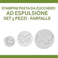 STAMPI STAMPINI ESPULSIONE FARFALLE PER PASTA DI ZUCCHERO DESIGN ART CAKE