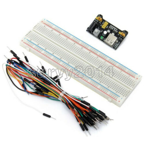 400//830 MB102 Point Breadboard 1660 Power Supply module W Jump Wire For Arduino