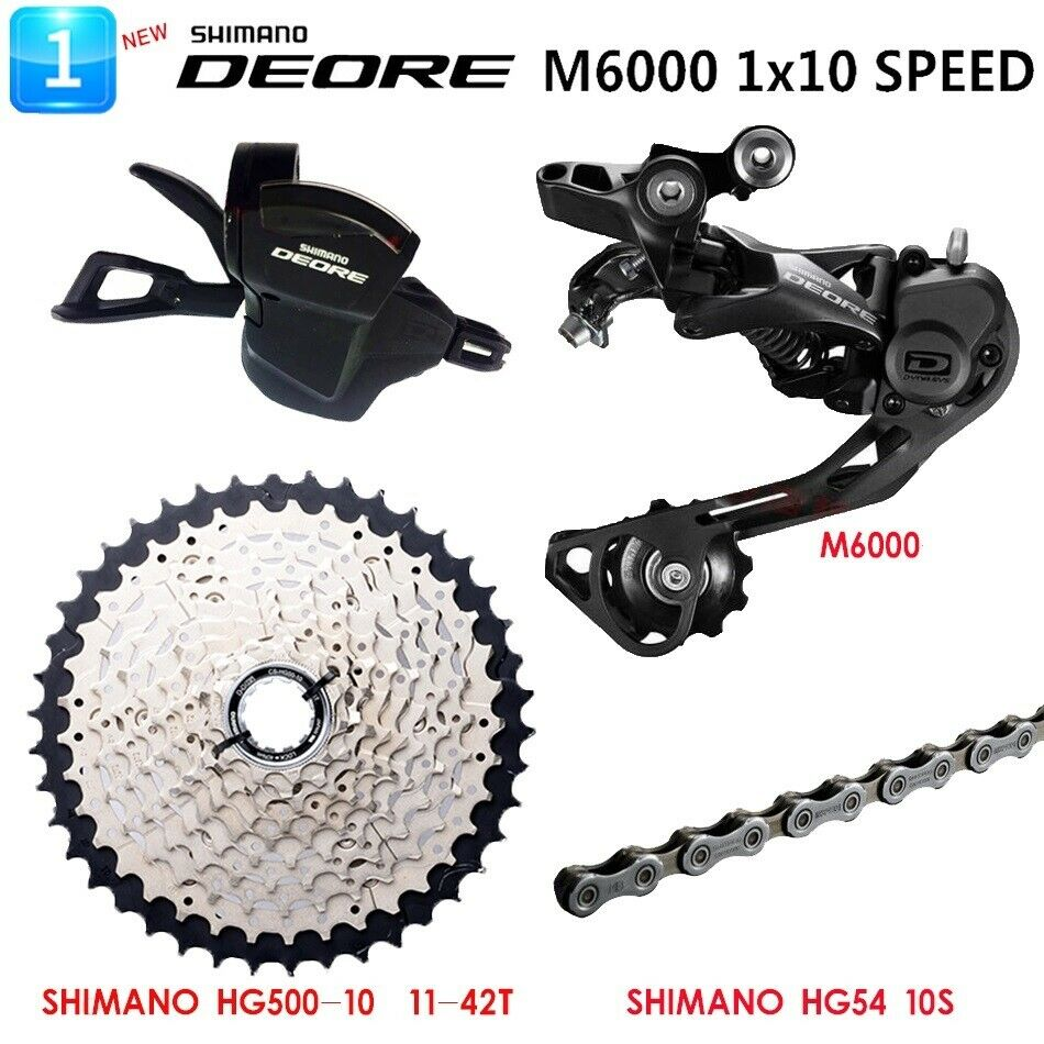 New SHIMANO Deore M6000 1x10 Speed MTB Groupset 4 PCS 42T SALES