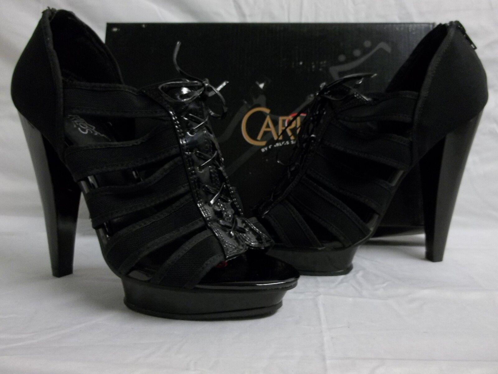 Carlos Santana Size 8 M Zealous Black Open Open Black Toe Heels New Womens Shoes 2990b0