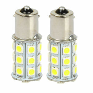 2pcs 12V 1156 BA15S P21W White 5050 27SMD LED Car Turn Signal Light Super bright