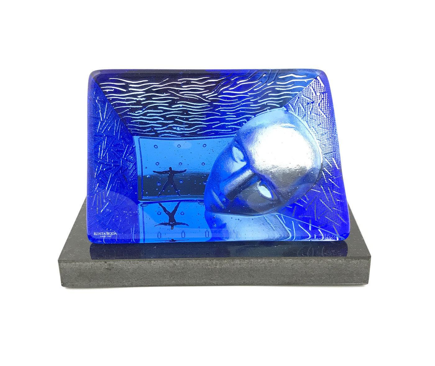 Kosta Boda 7175012 Viso scultura cristallo cristallo cristallo blu ee9b73