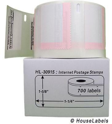 BPA Free! Ships Fast 4 Rolls; 700 Labels per Roll of Compatible with DYMO 30915 Internet Postage Labels 1-5//8 x 1-1//4