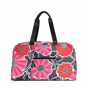 NWT-Authentic-Vera-Bradley-Collapsible-Duffel-in-Cheery-Blossoms
