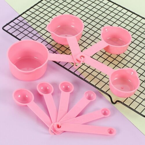Details about  /10pcs Set DIY Spoons Cup Home Kitchen Baking Teaspoon Measuring with Scales