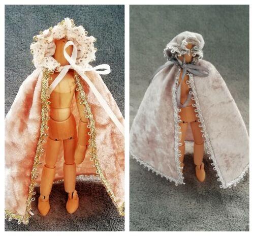 Handmade Miniature Échelle 1//12th maison de poupées Femmes Cape-divers