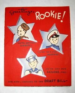 1940s wwii pop up greetings drafted rookie greeting card ebay image is loading 1940s wwii pop up greetings drafted rookie greeting m4hsunfo