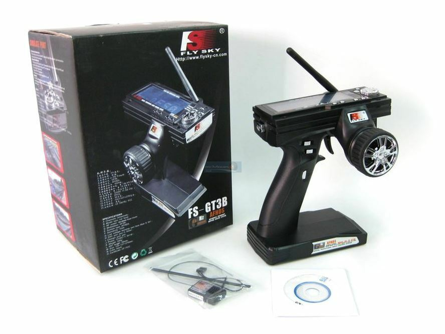 FLYSKY FS-GT3B 3CH 2.4GHz LCD GT3B Transmitter & Receiver for RC Car Boat