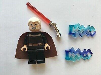 STAR WARS LEGO COUNT DOOKU/'S TRANS RED ANGLED LIGHTSABER HILT RARE 7752 75017