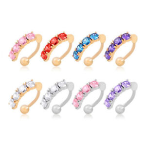 Navel-Ring-Barbells-Inlay-Zircon-Gold-Silver-Body-Belly-Button-Piercing-Jewelry