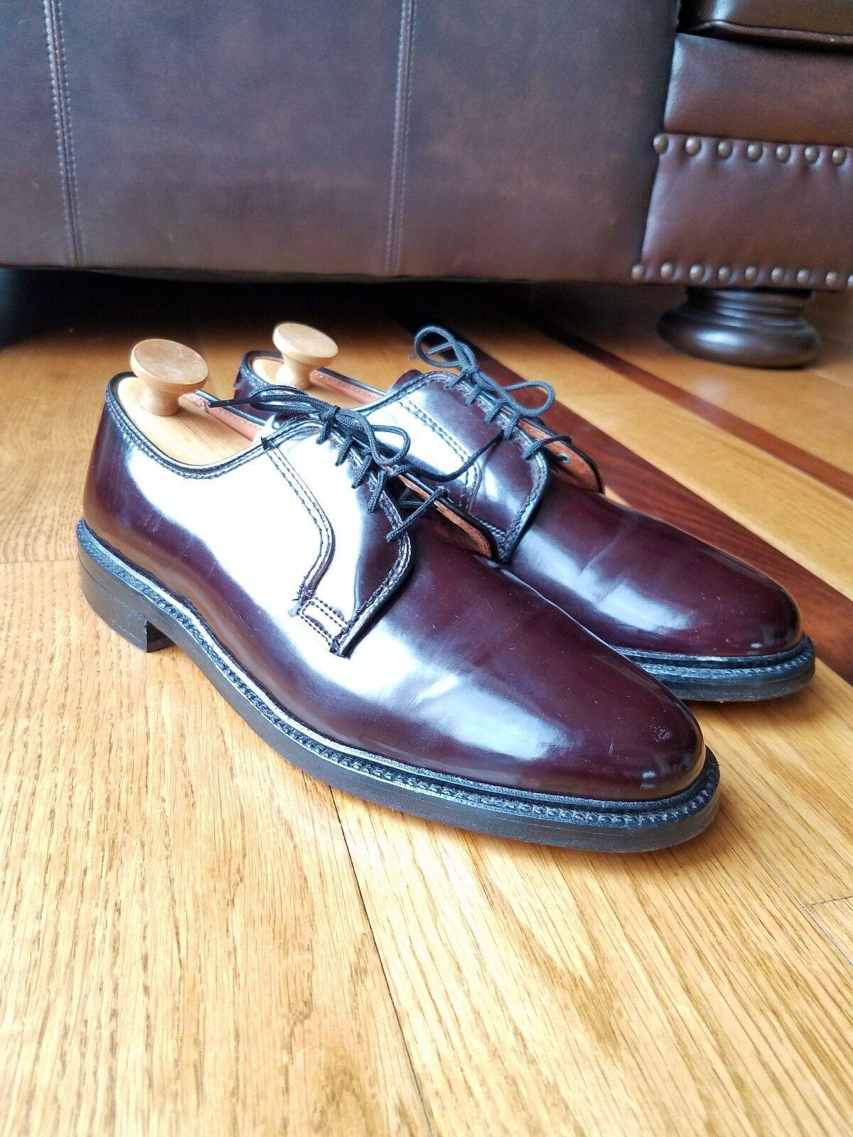 Dexter Du Pont Corfam Burgundy Oxford shoes Pgoldmeric Upper Leather Soles Sz 9D