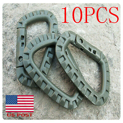 4pcs Carabiner 304 Stainless Steel Clip Snap Spring Fast Link Hook Buckle