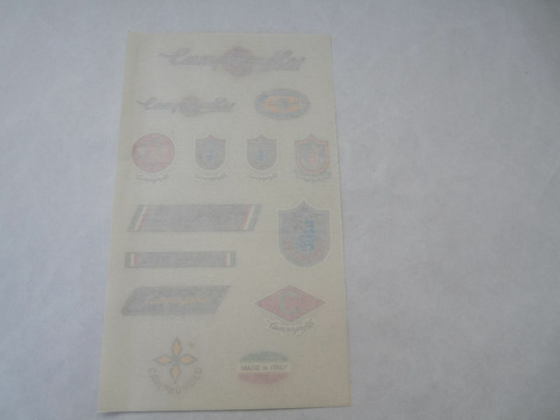 Campagnolo decal set  rub on decals frame logos vintage bike fork 2 LEFT NOS  free and fast delivery available