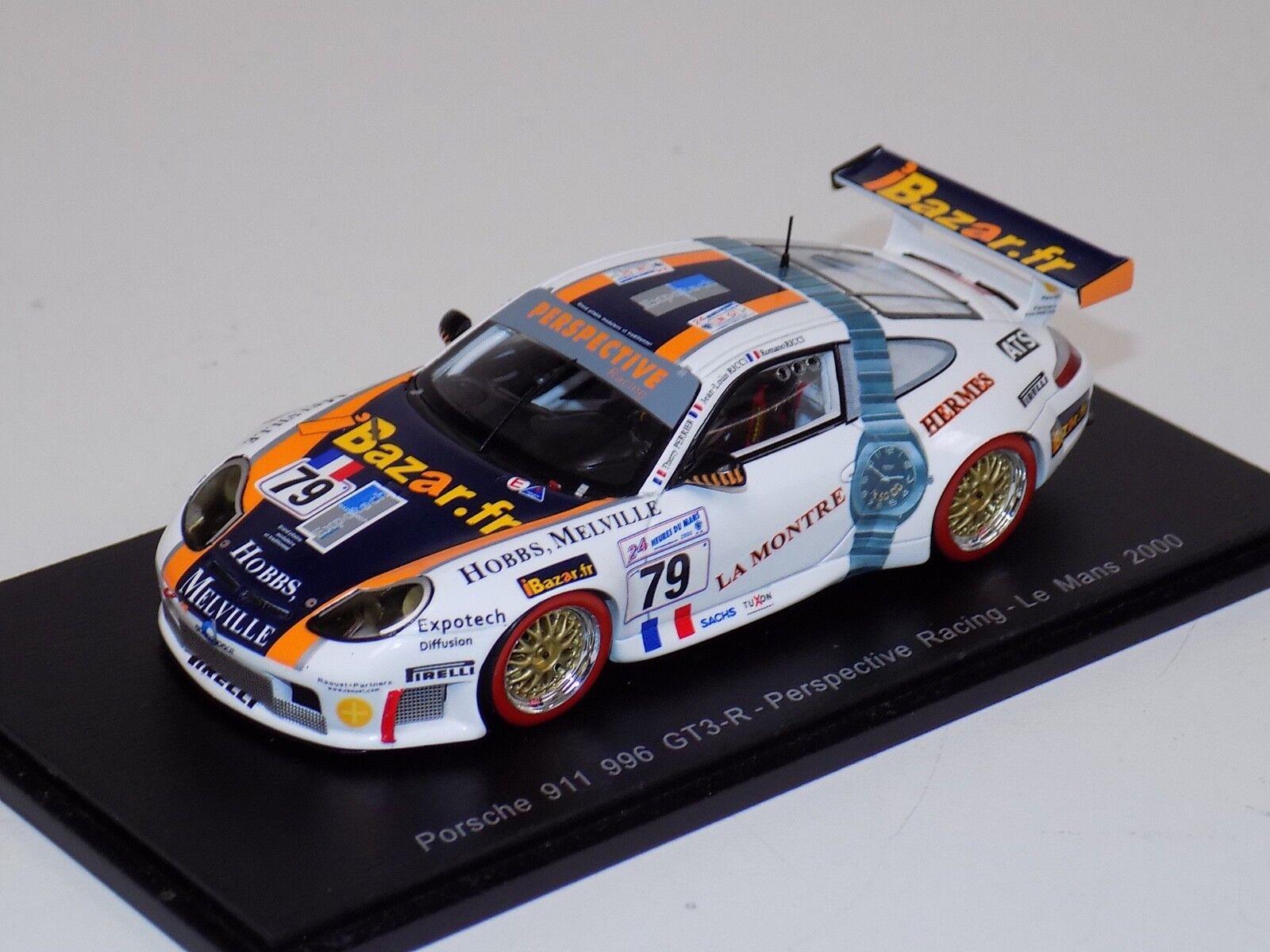 1/43 Spark Porsche 911 996 coche 79 2018 24 horas de LeMans S4759