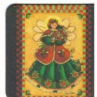 8 Absorbent Drink Coasters Christmas Spirit Designs - Elegant Angel