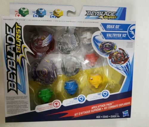 Beyblade Burst apex attack pack incl Odax 02 /& Valtryek V2 Exclusive Dual Pack