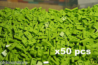 Bottom Groove 25 Pcs LEGO 3794 Lime 1x2 PLATE 1 x 2 with 1 Stud Jumper Knob