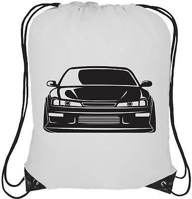 Rucksack Bag Nissan 200sx Silvia S15 Logo 13L Drawstring Tote Backpack