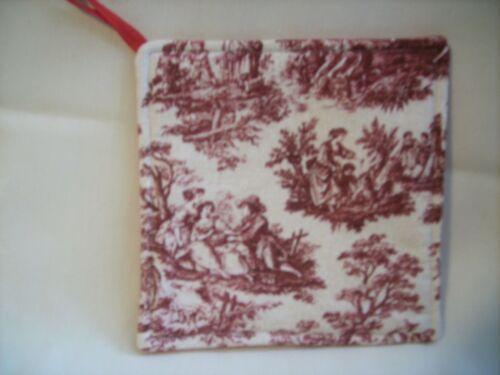 Handmade Tissu Hot Pad Maniques Fleurs Florals