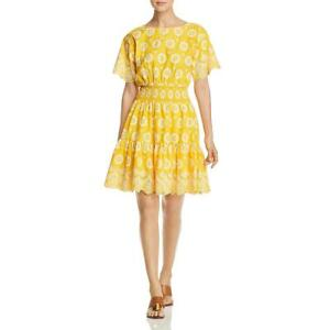 Tory-Burch-Womens-Embroidered-Eyelet-Party-Cocktail-Dress-BHFO-0103