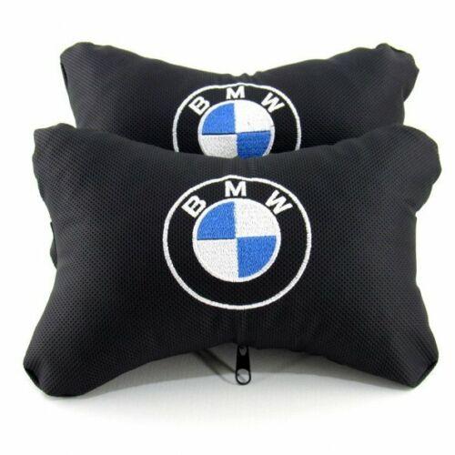 2 Stück Auto Nackenkissen Erstklassige Qualität für BMW mit bmw logo