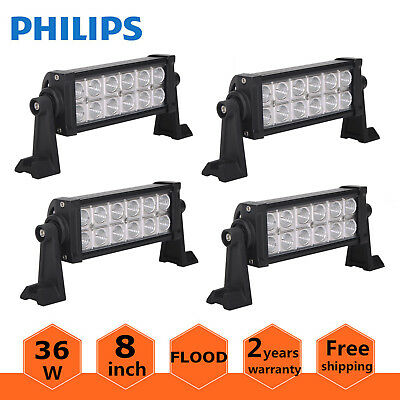 4X 8INCH 36W LED Light OffRoad 4WD ATV Ford Driving Lamp 12V 24V SPOT PHILIPS