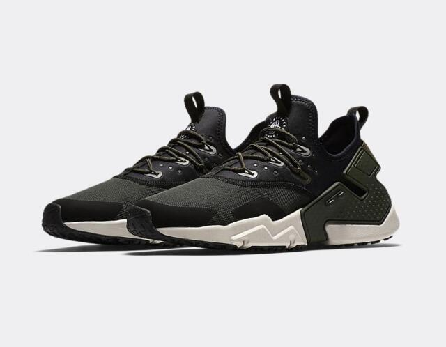 a64cd7c90af NIKE AIR HUARACHE RUN DRIFT AH7334 300 SEQUOIA GREEN/BLACK/WHITE -  MESH/NEOPRENE