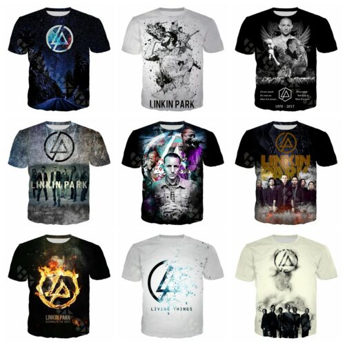 Rock Band Linkin Park 3D Printed Fashion T Shirt Men//Women Casual Tops G33